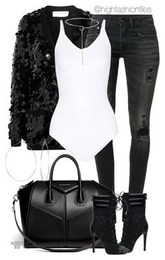 """""""Untitled #2648"""" by highfashionfiles ❤ liked on Polyvore featuring Sonia Rykiel, R13, Yummie by Heather Thomson, Givenchy, Eddie Borgo and Phyllis + Rosie"""