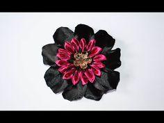 Цветок из органзы Канзаши. D.I.Y. Organza Kanzashi Flower - YouTube