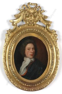 """H. de Valk (fl. 1693-1717) """"Portrait of a gentleman"""", oil on copper miniature #PortraitMiniatures"""