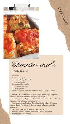 Ficou delícia!!! (Tentar fazer com folha de uva e com repolho roxo) Curry, Purple Cabbage, Carrot, Cloves Of Garlic, Salads, Recipes, Vinegar, Rice