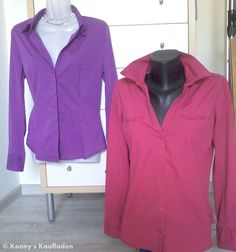 ZWEI  elegante COMMA Damen Blusen in Größe M - 38 1x lila , 1x himbeer