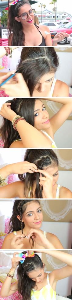 Easy DIY Hairstyles for The Beach | Girly Braided Updo