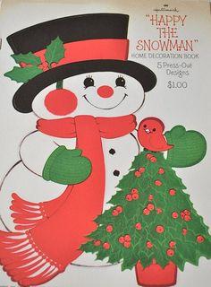 "Vintage Hallmark ""Happy The Snowman"" <3"