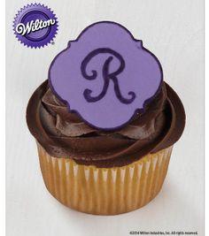 Monogrammed Fondant Cupcake Recipe from @Wilton Cake Decorating Cake Decorating #livelovebake