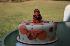 This cake was for a Birthday at a Virginia Tech tailgate.