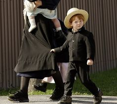 An Amish family -- remember the feel of the little ones hanging on to my skirt -- Sweet.