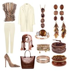 """Untitled #123"" by kkbennett131 on Polyvore featuring Hobbs, Maje, Salvatore Ferragamo, Jimmy Choo, H&M, Chan Luu, Accessorize, Dsquared2, Ashley Pittman and Goossens"
