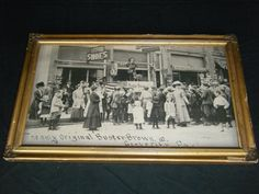 Antique Framed Buster Brown Shoes Advertising Display Photo Grove City PA Store #BusterBrownShoes
