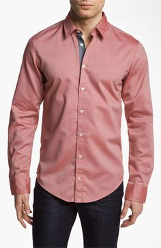 BOSS Orange Oxford Woven Shirt available at #Nordstrom