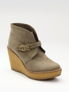 too  cute with jeans    Stella McCartney Faux Suede Wedge Ankle Boots