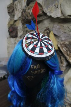 Surrealist Dartboard Fascinator Hat with Adjustable by FabHatters
