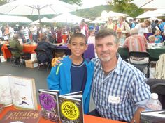 Michael with James Prellier at the Chappaqua Children's book festival 2013 these authors all were so happy to take a picture with us kids these are unforgettable memories.Hope to see you at the 9/27/2014 festival.