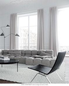 Beautiful Parisian Apartment with B&B Tufty-Time sofa