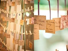 """Wedding place cards idea.Cut out of stiff paper using """"silly scissors"""", stain with coffee"""