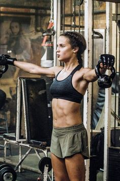 If you haven't already, drop everything you're doing and take a look at how ripped Alicia Vikander looks in Tomb Raider. She may be a petite ex-ballerina, but
