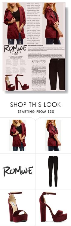 """""""Romwe"""" by sonila-vl ❤ liked on Polyvore featuring beauty, Paige Denim, Steve Madden and romwe"""