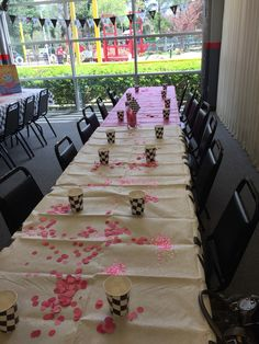 Banner and table decor