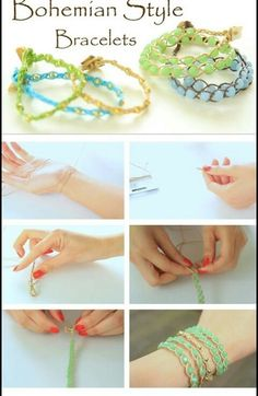 This DIY jewelry tutorial is about design of a hand woven bracelet with thread and beads. I know many new comers seeking for some easy-to-start friendship bracelets. I guess this one is just appropriate.