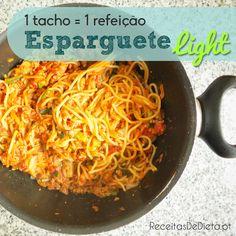 Tachada de Esparguete Light #receita #dieta #regime #emagrecer