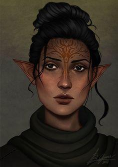 f Wood Elf Druid Leather Armor portrait lg Fantasy Races, Fantasy Rpg, Medieval Fantasy, Skyfall, Dnd Characters, Fantasy Characters, Character Portraits, Character Art, Zelda Cosplay