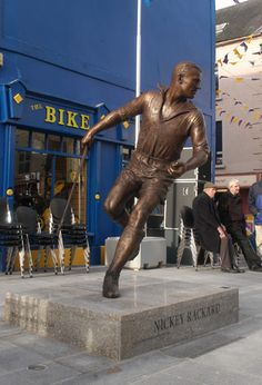 New statue in Wexford. Irish, Leather Pants, Sculptures, Clay, Football, Statue, Sports, Photos, Leather Jogger Pants