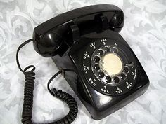 Sold Vintage 1980's BELL SYSTEM Retro Rotary Dial Black Desk Phone 500 DM Western Electric