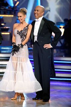 Hines Ward and his partner Kym Johnson dance a Quickstep and a Freestyle dance on week ten of 'Dancing With The Stars.' The judges gave the couple 29 out of 30 for their Quickstep and 30 points out of 30 for their Freestyle. The couple earned a total of 59 out of 60.