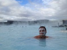Gina Pacelli at the Blue Lagoon in #Iceland  #GinaPacelli #BlueLagoon #roadlesstraveled #travel   Read more about my Iceland #adventure: http://www.ginapacelli.com/2013/12/19/iceland-land-of-fire-and-ice-land-elds-og-isa/