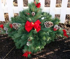 Grave Wreaths Holiday Grave Blankets Grave Pillows