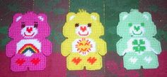 canva care, canva project, plastic canvas, tissue boxes, carebear, care bears, craftsplast canva, diy, canvases