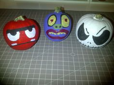 I painted these little pumpkins today.  Was so fun!
