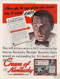Cream of Kentucky Bourbon Whiskey Ad Rockwell Art (1938)