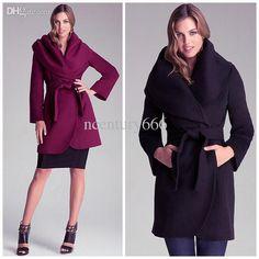 Women Winter Autumn Suede Large Shawl Collar Long Sleeve Woolen Coat Waist Adjustable Elegant Slim Long Trench Causal Coat 2014