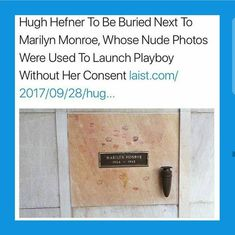 Rest In Peace Marilyn Monroe i hope his plaque is suitable. Meaning vile. The More You Know, Look At You, Intersectional Feminism, Equal Rights, Faith In Humanity, Social Issues, Social Justice, Thought Provoking, Marilyn Monroe