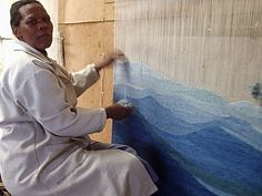 Tapestry weaver at work (Lesotho)