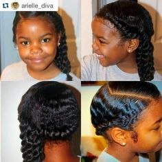 Flat Twist and side ponytail