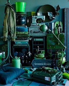 Variations of green (from vtwonen, September 2011. Styling Cleo Scheulderman, Photo Jeroen van der Spek)