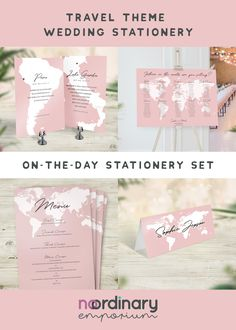 Sharing your love for with your guests! Perfect for a travel themed wedding. Each set is personalised with your choice of any city, country or location. Table Name Cards, Table Names, Wedding Stationery Sets, Warehouse Wedding, Place Names, Travel Themes, Table Plans, Wedding Day, Place Card Holders