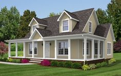 View our numerous modular home floor plans and elevations, like this Brookside Cape.