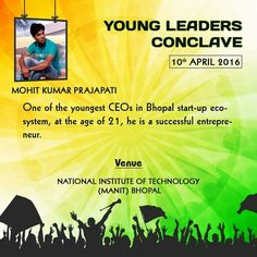 One of the Youngest CEO of Bhopal startup eco-system, at the age of 21. Mohit Prajapati, Bhopal.