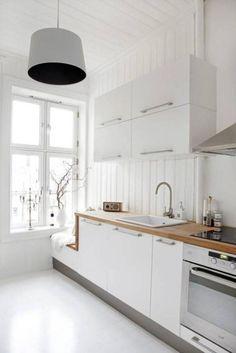 23 Beautiful White Scandinavian Kitchen Designs: