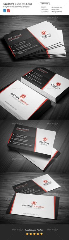 Creative Business Card Template #design Download: http://graphicriver.net/item/creative-business-card/11473970?ref=ksioks