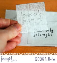 embroidery on felt tutorial - transfer pattern with lightweight tear-away stabilizer