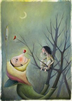 "Manuela Santini ""Biancaneve"" Ollio e pastelli su carta 2015"