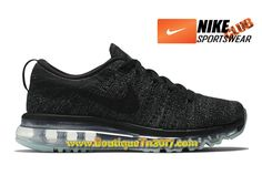 97a20032d0eb Nike Flyknit Air Max GS Chaussures Nike Running Pas Cher Pour Femme Noir  620659-010