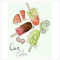 Vamos de sorvete, picolé.... Que calor!!! #bebamuitolíquido
