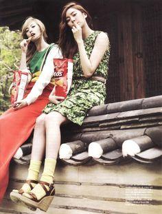 Uee and Nana - Vogue Girl June '11