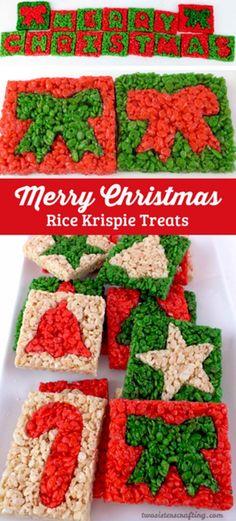 Christmas Rice Krispie Bar | Best Christmas Rice Krispie Treat Recipes | Rice Krispie Treat Ideas, see more at: http://diyready.com/best-christmas-rice-krispie-treat-recipes-rice-krispie-treat-ideas/