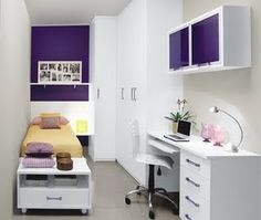 Got a tiny room? Here is a good option to keep it comfortable and organized.