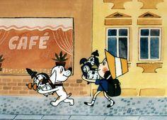 Káťa a Škubánek: Kukačky — Česká televize Retro Illustration, Nostalgia, Collage, Snoopy, Cartoons, Pictures, Fictional Characters, Photos, Collages